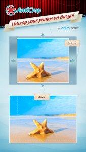 Anticrop: app voor Bijsnijden foto en toevoegen achtergrond