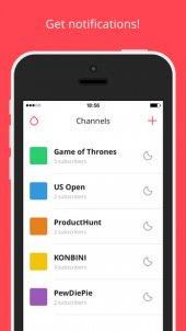 Drop *: App voor versturen en ontvangen onderwerp gerelateerde push berichten