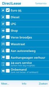 DirectLease: App voor vinden tankstations