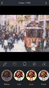 App voor toevoegen schilderij effect aan foto's