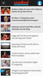 App voor voetbalnieuws