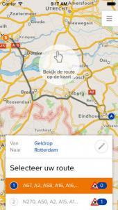 App voor wegwerkzaamheden