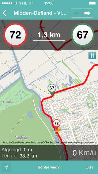 App fietsroutes nederland