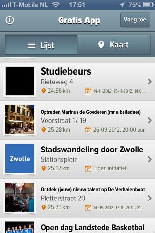 Gratis app - voor het vinden van gratis evenementen
