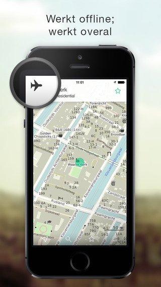 Maps.Me: Offline kaart gebruiken