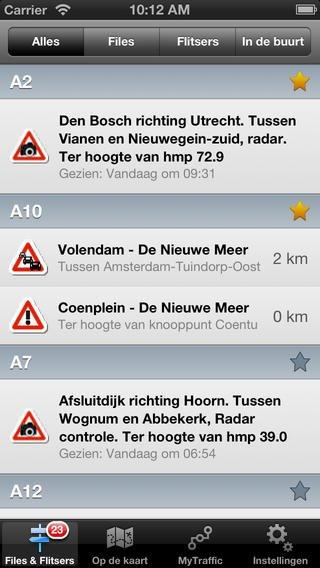 App voor verkeersinformatie