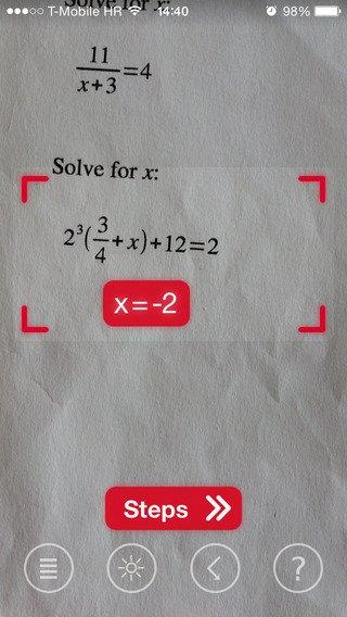 App voor het oplossen van formules