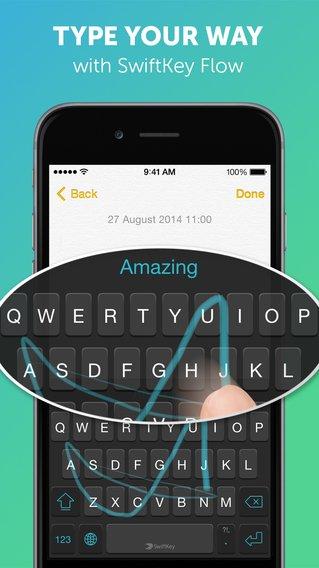 Toetsenbord app SwiftKey - ios8