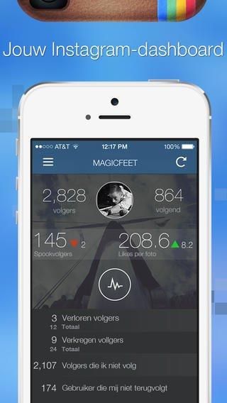 App voor instragram Volgers beheren