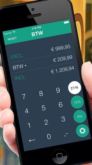 App voor berekenen incl excl BTW prijzen