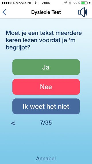 App voor herkennen Dyslexie, Vragen