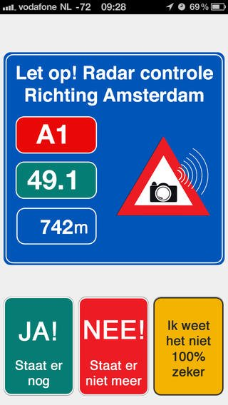 App voor flitspalen onderweg