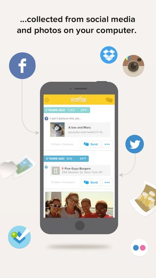 App voor herinneringen uit het verleden