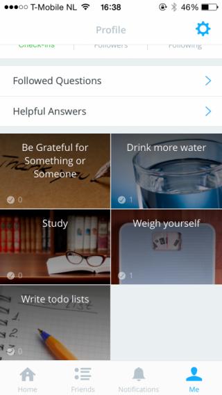 App aanleren nieuwe gewoontes