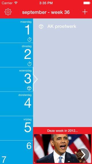 7 Days: App voor huiswerk plannen