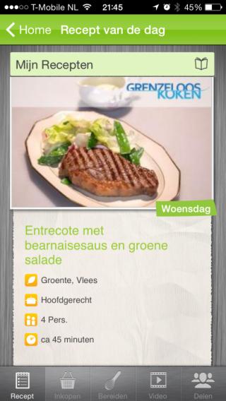 Recept van de dag: app voor recept ideeen