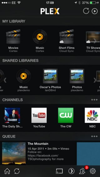 App voor delen media via eigen NAS of server: Plex