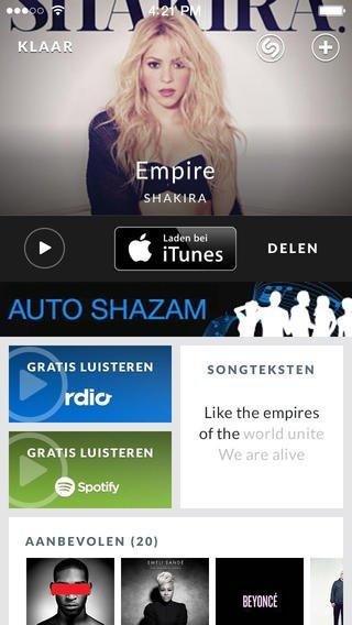 App voor muziek herkenning