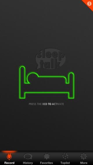 App voor opnemen praten in je slaap