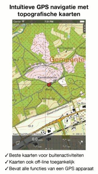 Topo GPS Nederland: App met topografische kaarten