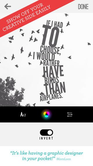 App Typografie teksten maken