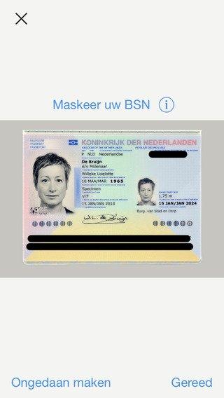 App Veilige kopie identiteitsbewijs