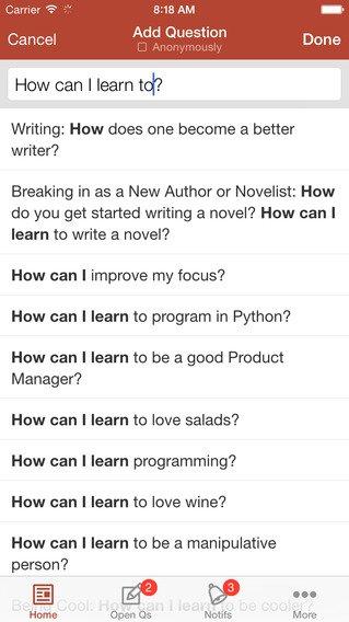 Quora: App voor vragen antwoorden en adviezen