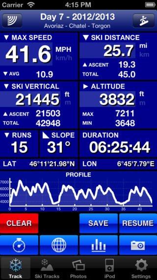 App voor bijhouden skitrips