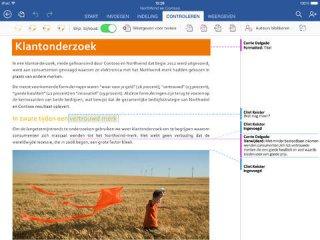 Microsoft Word: App voor bewerken word documenten op de iPad